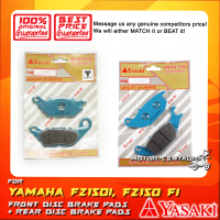 YASAKI FRONT DISC BRAKE PADS + REAR DISC BRAKE PADS FOR YAMAHA FZ150 FI, FZ150I