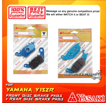 YASAKI FRONT DISC BRAKE PADS + REAR DISC BRAKE PADS FOR YAMAHA Y15ZR