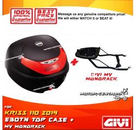 GIVI E30TN TOP CASE + GIVI MODENAS KRISS 110 2019 MV MONORACK