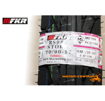 FKR TUBELESS TYRE STORM RS980 70/90-17 + 80/90-17
