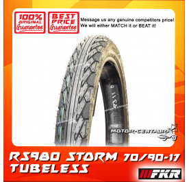 FKR TUBELESS TYRE STORM RS980 70/90-17