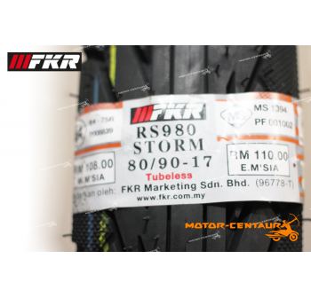 FKR TUBELESS TYRE STORM RS980 80/90-17