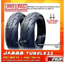 FKR TUBELESS TYRE JA888 110/80-14 + 140/70-14