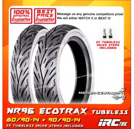 IRC TUBELESS TYRE ECOTRAX NR96 80/90-14 + 90/90-14