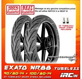 IRC TUBELESS TYRE EXATO NR88 90/80-14 + 100/80-14