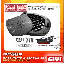 GIVI MP60N BASE PLATE + SCREW SET + STOP LIGHT KIT
