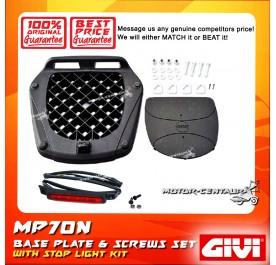 GIVI MP70N BASE PLATE + SCREW SET + STOP LIGHT KIT