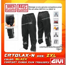 GIVI RAIN TROUSERS CRT01 2XL BLACK