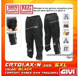 GIVI RAIN TROUSERS CRT01 6XL BLACK
