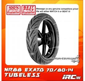 IRC TUBELESS TYRE EXATO NR88 70/80-14