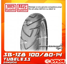SWALLOW TUBELESS TYRE SB128 SAMURAI 100/80-14
