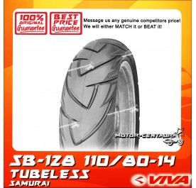 SWALLOW TUBELESS TYRE SB128 SAMURAI 110/80-14