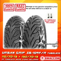 SWALLOW TUBELESS TYRE URBAN GRIP SC109F 110/70-13 +  SC109R 130/70-13