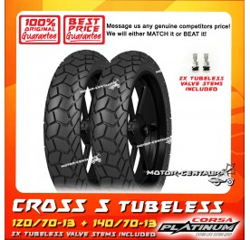 CORSA PLATINUM TUBELESS TYRE CROSS S 120/70-13 + 140/70-13