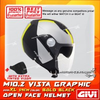 GIVI JET HELMET M10.2 VISTA XL GRAPHIC BOLD BLACK + TINTED VISOR
