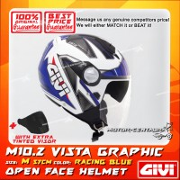 GIVI JET HELMET M10.2 VISTA M GRAPHIC RACING BLUE + TINTED VISOR