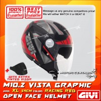 GIVI JET HELMET M10.2 VISTA XL GRAPHIC RACING RED + TINTED VISOR