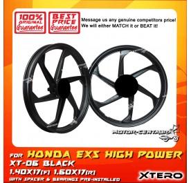 XTERO SPORT RIM XT-06 1.40X17(F) 1.60X17(R) EX5 HIGH POWER BLACK