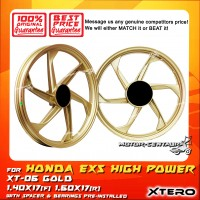 XTERO SPORT RIM XT-06 1.40X17(F) 1.60X17(R) EX5 HIGH POWER GOLD
