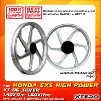 XTERO SPORT RIM XT-06 1.40X17(F) 1.60X17(R) EX5 HIGH POWER SILVER