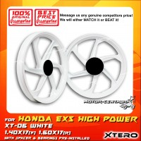 XTERO SPORT RIM XT-06 1.40X17(F) 1.60X17(R) EX5 HIGH POWER WHITE