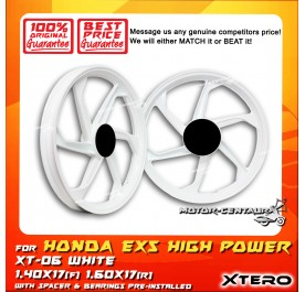 XTERO SPORT RIM XT-06 1.40X17(F) 1.60X17(R) EX5 HIGH POWER WHITE