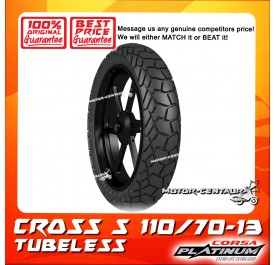 CORSA PLATINUM TUBELESS TYRE CROSS S 110/70-13