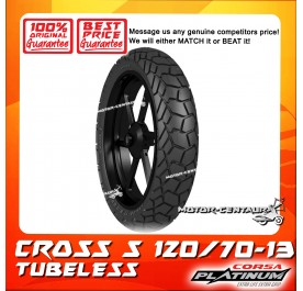 CORSA PLATINUM TUBELESS TYRE CROSS S 120/70-13