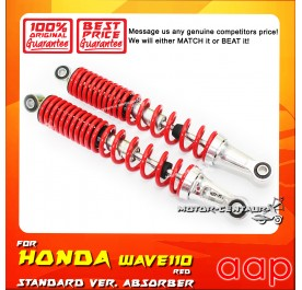 AAP REAR SHOCK ABSORBERS (L&R) WAVE110 / DASH RED