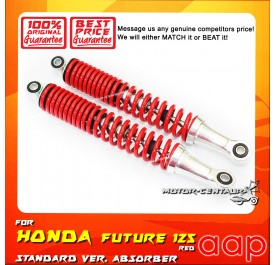 AAP REAR SHOCK ABSORBERS (L&R) WAVE100 / 100R / 125 / 125S / FUTURE125 RED