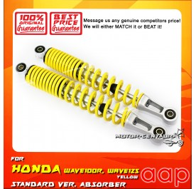 AAP REAR SHOCK ABSORBERS (L&R) WAVE 100 / 100R / 125 / 125S / FUTURE 125 YELLOW