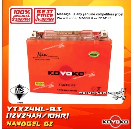 KOYOKO G2 NANOGEL BATTERY YTX24HL-BS ORANGE