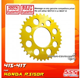 SSS REAR SPROCKET STEEL RS150R 415-41T COLOR: NEW YELLOW GOLD