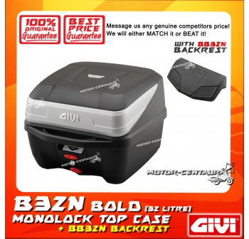 GIVI B32N TOP CASE + BB32N BACKREST