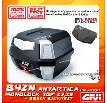 GIVI B42N TOP CASE + BB32N BACKREST