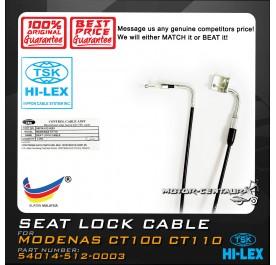 TSK SEAT LOCK CABLE 54014-512-0003 MODENAS CT100/CT110