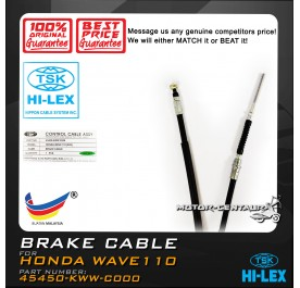 TSK FRONT BRAKE CABLE 45450-KWW-C00 HONDA WAVE110 S/ALPHA