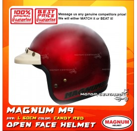 MAGNUM HELMET M9 (5 BUTTONS) CANDY RED L