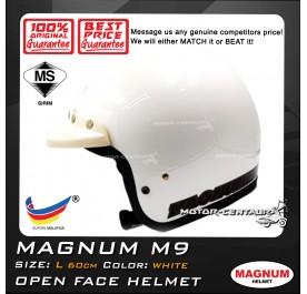 MAGNUM HELMET M9 (5 BUTTONS) WHITE L