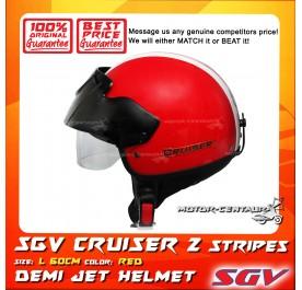 SGV HELMET CRUISER STRIPES RED