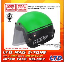 LTD HELMET MAG 5 2TONE GREEN-BLACK