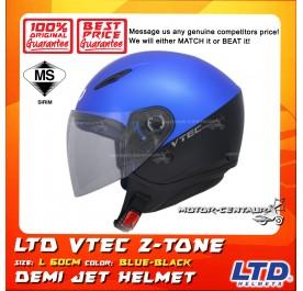 LTD HELMET VTEC 2TONE BLUE-BLACK