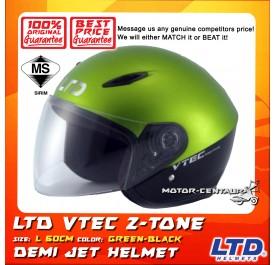 LTD HELMET VTEC 2TONE GREEN-BLACK