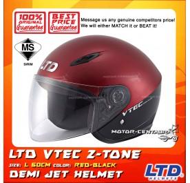 LTD HELMET VTEC 2TONE RED-BLACK