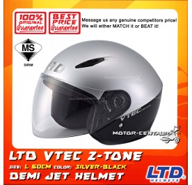 LTD HELMET VTEC 2TONE SILVER-BLACK