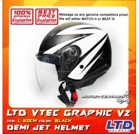 LTD HELMET VTEC GRAPHIC V2 BLACK