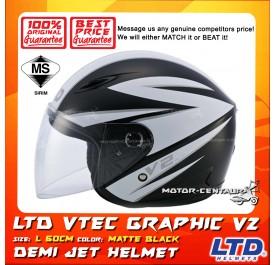 LTD HELMET VTEC GRAPHIC V2 MATT BLACK