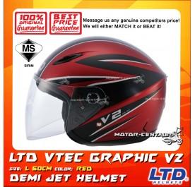 LTD HELMET VTEC GRAPHIC V2 RED