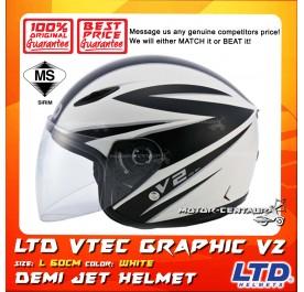LTD HELMET VTEC GRAPHIC V2 WHITE