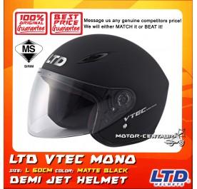 LTD HELMET VTEC MONO MATT BLACK